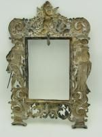 Antique 1700s German Sterling Silver Large 11 1 2 Picture Frame