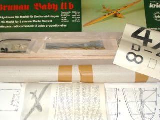 Very RARE Krick Grunau Baby German R C Scale Sailplane Kit