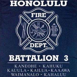 Honolulu Fire Department Battalion 3 Hawaii T Shirt XL