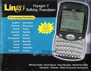 20 Language Electronic Talking Translator Dictionary