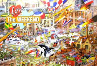 Love The Weekend by Mike Jupp 1000 Piece Gibsons Humor Jigsaw Puzzle