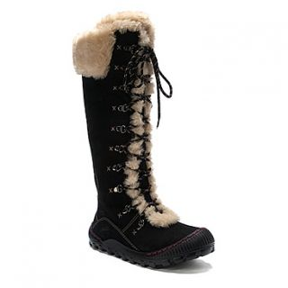 Womens Kalso Earth Shoes Peak Tall Winter Mukluk Boots Black Grey