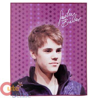 Justin Bieber Fleece Throw Blanket 50 x 60 Purple Dots