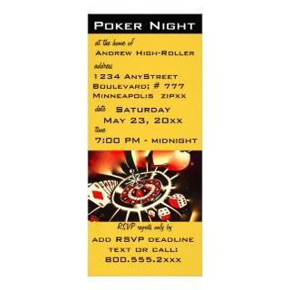 Vegas Casino Theme Twenty first Birthday Party Announcement