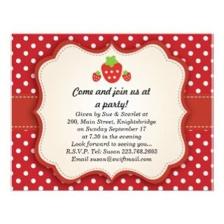 updated invitation click here strawberry party invitation this berry