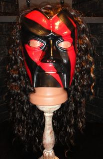 New WWF Kane Classic Mask with Hair Wig Vintage WWE