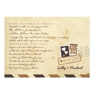 Vintage Airmail Love Letter Personalized Note Personalized