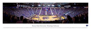 Kansas State Wildcats Baketball Panoramic Poster Print