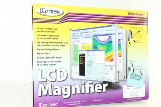 Kantek LCD Monitor Magnifier Filter Fits 15 inch LCD Screen MAG15L