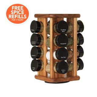 Kamenstein 16 Jar Canopy Acacia Wood Spice Rack