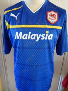 2012 2013 Squad Signed Cardiff City Away Football Shirt BNWT Kit