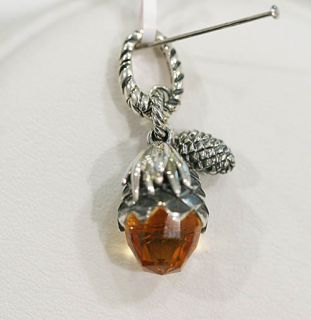 David Yurman Pine Cone Charm Citrine $325