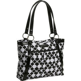 Kailo Chic Womens Pleated Laptop Tote Mod Circles