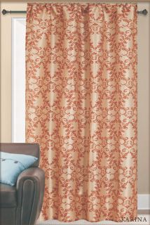 Karina Faux Silk Window Panels Grommet Top 2 Panels Brand New