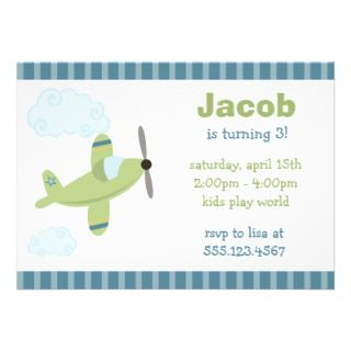 Red Fire Truck Blue Border Birthday Boy Invitation