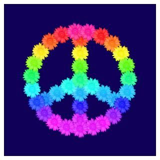 Wall Art  Posters  Rainbow Flower Peace Sign Wall