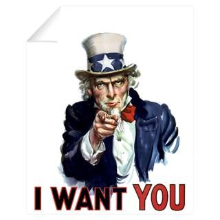Wall Art  Wall Decals  Uncle Sam Wants you Wall