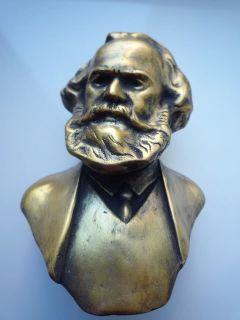 Lider Communist Germany KARL MARX metal bust figurine H11cm.
