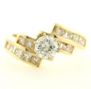 14 Karat Gold 1 54 T w Carat Fine Natural Diamond Engagement Ring Must