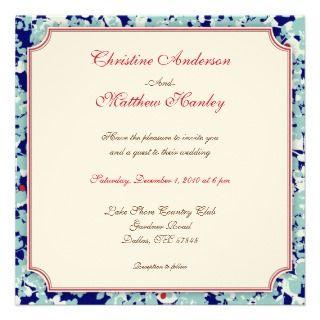 Four Seasons Wedding Invitation (winter)