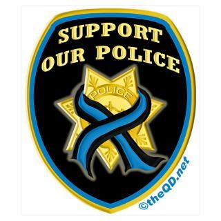 Wall Art  Posters  Thin Blue Line Support Police