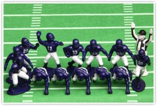 New Kaskey Kids Football Guys Purple and White Mini Pack Figure Set