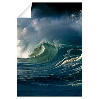 Wall Art  Wall Decals  Wind blown wave breaking in