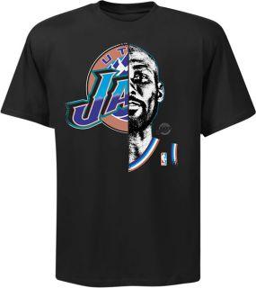 Karl Malone Utah Jazz Hardwood Classic Game Face T Shirt