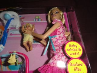 Kasias Barbie Baby Caregiver Set with Baby Doll Accessories