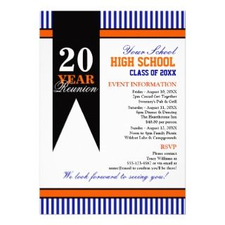 High School Class Reunion Custom Invitations