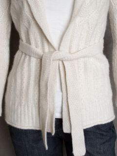 Katherine Kelly Chunky 100% Cashmere Shawl Collar Cardigan Holiday