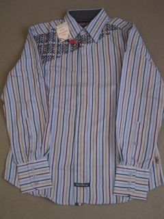 English Laundry LS Frame Stripe Blue Shirt Button Up New Mens