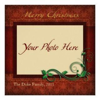 Holiday Card, Merry Christmas Custom Invitations