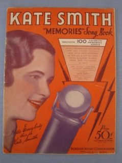Vintage Kate Smith Memories Song Book Booklet Music Robbins Music Corp