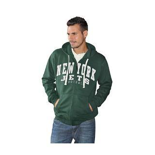 New York Jets Green Sanders Full Zip Hooded Sweatshirt