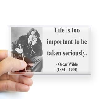 Oscar Wilde 17 Rectangle Decal for $4.25