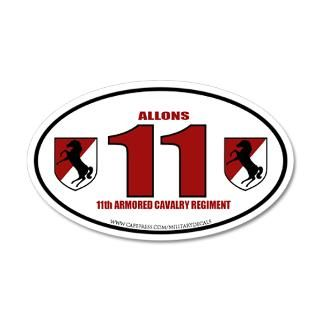 11th Armored Cavalry Regiment 22x14 Oval Wall Peel by militarydecals
