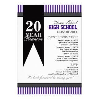High School Class Reunion Custom Invites