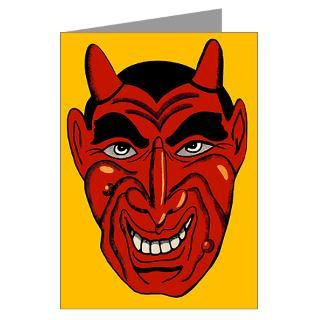 Gifts  Demon Greeting Cards  Devil Mask Greeting Cards (Pk of 20