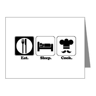 Addicted Note Cards  Eat. Sleep. Cook. Note Cards (Pk of 20