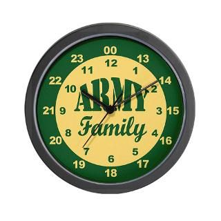 Army Family 24 hour military time Wall Clock for $18.00