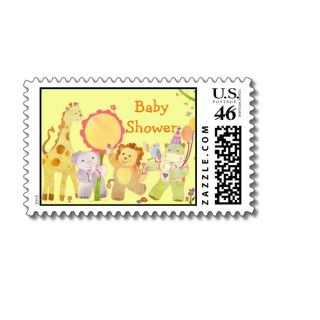 Baby Animals Baby Shower Postage