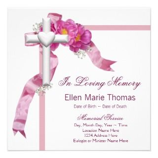 In Loving Memory Invitations, Announcements, & Invites