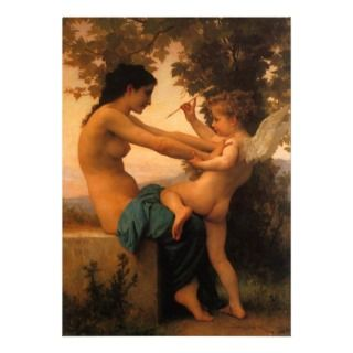 Defending Herself Against Eros (Cupid) Bouguereau Personalized