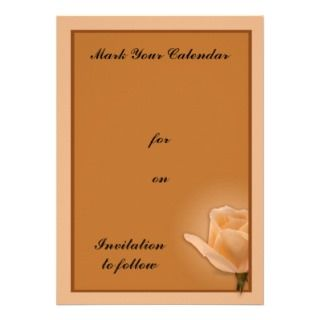Long Stem Rose Personalized Announcements