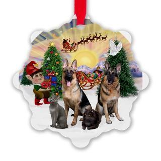 Grey Cat Christmas Christmas Ornaments  Unique Designs