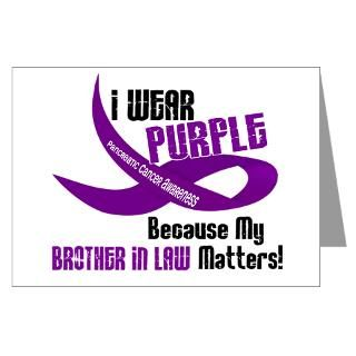 Wear Purple (Brother In Law) 33 PC Greeting Card