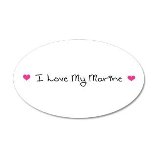 Love Gifts  Love Wall Decals  I Love My Marine 35x21 Oval Wall