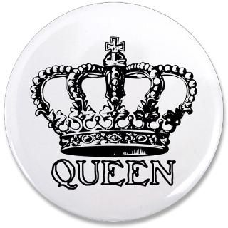 Gifts  Buttons  Queen Crown 3.5 Button