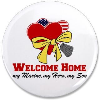 Gifts  Buttons  Welcome Home   My Son (Marine 3.5 Button